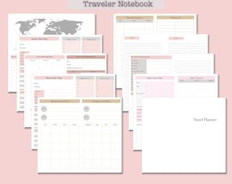 Travel Planner for Traveler Notebook (Digital paper)