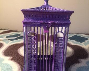 Purple Birdcage Picture Frame