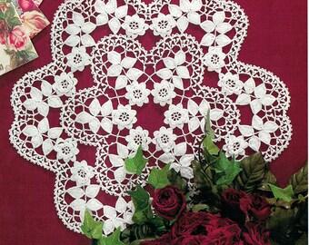 CHRISTMAS Snowflake 3D 'Rose' Crochet Pattern, Lace Irish Crochet Doily, Heirloom, Traditional, Keepsake, Victoriana, Filigree, Floralx