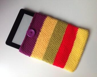 Kindle sleeve / e-reader case / crochet Kindle cover / crocheted e-book sleeve / book sleeve