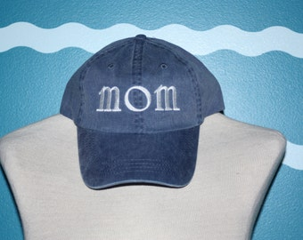 Mom Baseball Hat - Custom Gift for Mom - Embroidered Ball Cap For Mom - Gift for Her - Under 20 Gift - Mother's Day Gift - Custom Embroidery