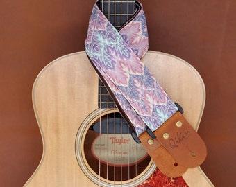 Pink Thai Woven Guitar Strap