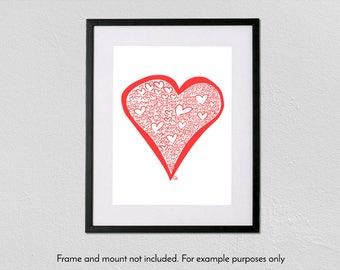 Heart of Hearts - A4 fine art giclée print