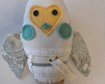 """Tooth Fairy Owl softie """"Nellie"""" Bumpy Critter"""