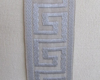 GREEK KEY flat trim 2.25 inch GRAY