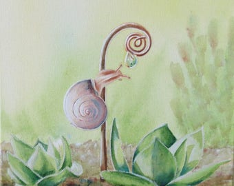 Snail - Original painting