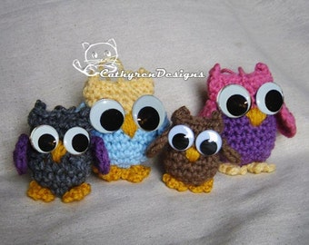 Witch Sisters and Owl Family-Halloween Ornament/Key fobs,INSTANT DOWNLOAD Crochet Pattern