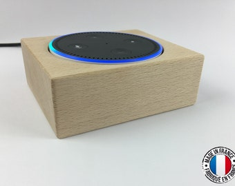 Support de table en bois pour Amazon Echo Dot Alexa