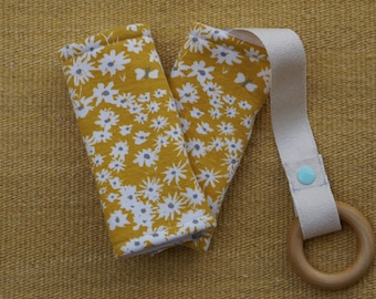 Yellow Flowers Organic Baby Carrier Teething Pads. Drool Pads. Baby Wearing. Protective Pads. Teething Pads. Ergo. Boba. Beco. Lillebaby.