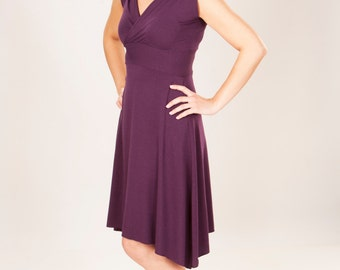 Short V Neck Dress - Organic Clothing - Many Colors to Choose From