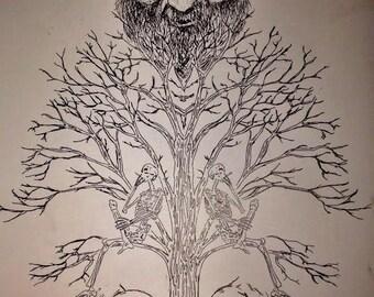 Brokedown Palace Grateful Dead/ Jerry Garcia Tarot Poster