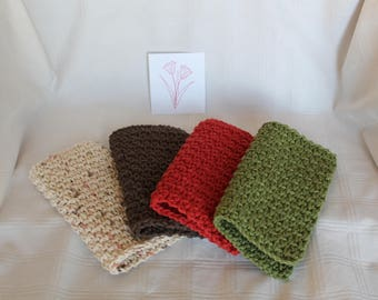 Crochet Dishcloths Washcloths Handmade Housewarming Shower Gift