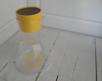 Vintage Pyrex Juice Carafe Yellow Starburst