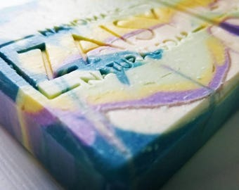 Bohemian Fusion Soap, Colorful Unicorn Swirled, Handmade Soap, Cold Process, Traditionally Made, Skincare, Relaxing Bath Idea