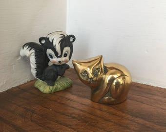 Brass Kitten, Brass Cat, Brass Kitty, Brass Decor, Cat Decor, Kitty Cat, Mid Century Decor, Gold Decor, Cat Lover Gift
