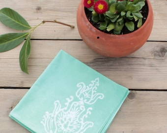 mint green lunch napkins. set of four. made to order.