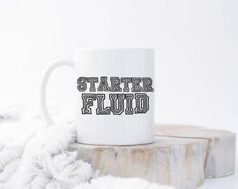 Starter Fluid Mug, Gift for Mechanic, Funny Mechanic Mug, Mechanic Present, Mechanic Gift, Car Lover Mug, Funny Mug, Car Lover Gift, Car Mug