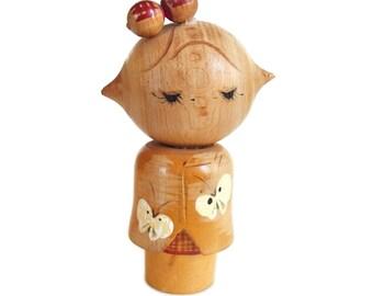 FUN. QUIRKY. RARE.  Sosaku Kokeshi by Daisuke Takeda. Japanese Kokeshi Doll. Vintage Kokeshi. Kokeshi Dolls. Japanese Doll. Kindai Kokeshi
