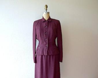1940s 1950s suit . vintage 40s 50s suit