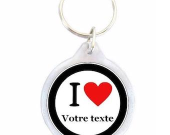 Keychain I love your text - keychain