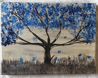Blue whimsicle tree