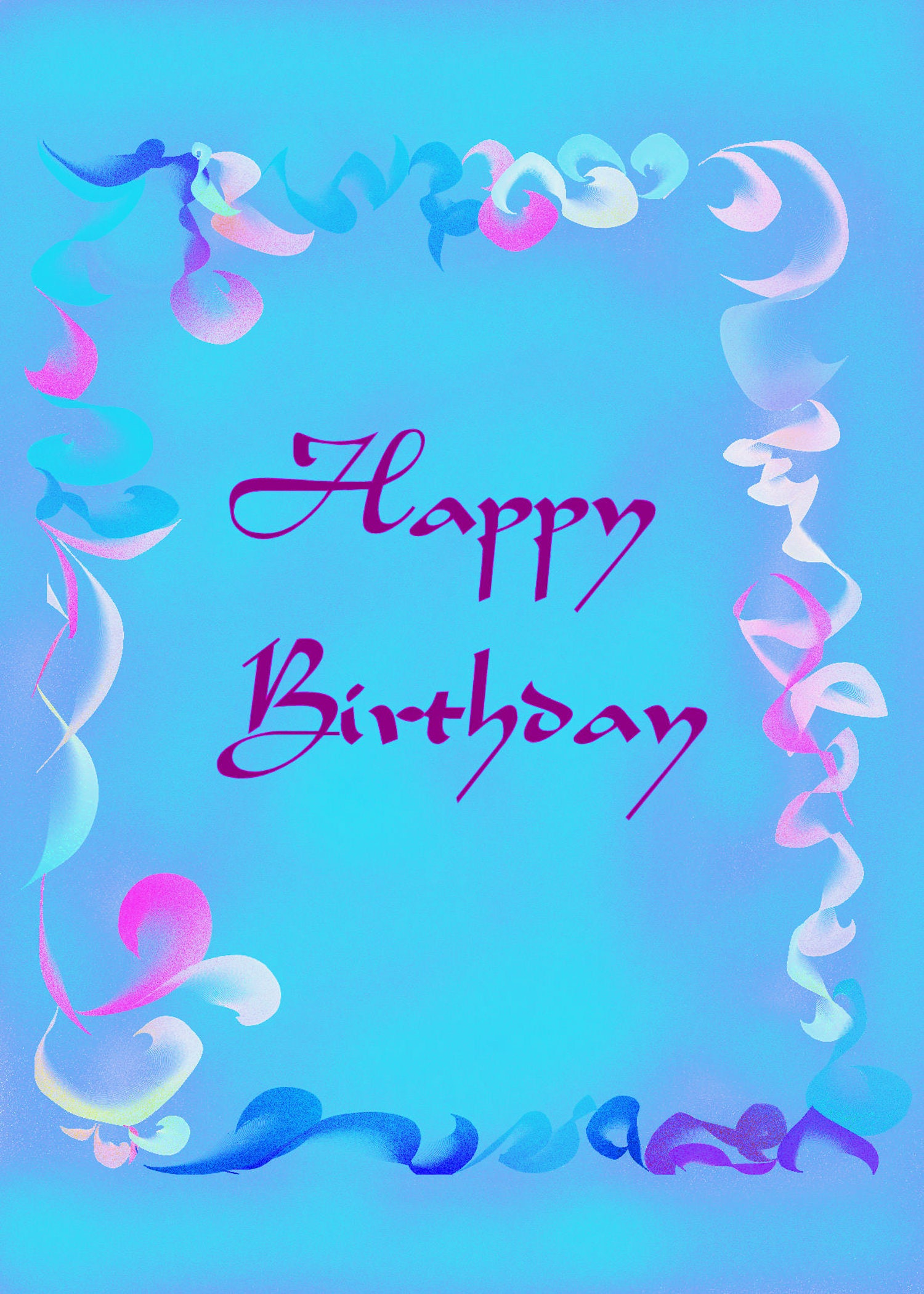 birthday card blue