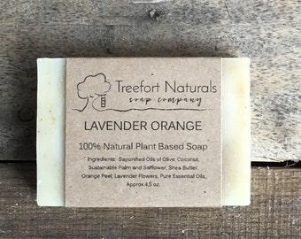 Lavender Orange Soap - Handmade soap, Cold Process, All Natural soap, essential oil, vegan soap
