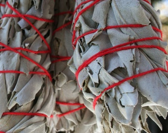 WHITE SAGE Ceremonial Cleansing and Purification (two smudge bundles)
