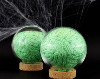 Zombie green matter in a glass ball - Halloween special edition