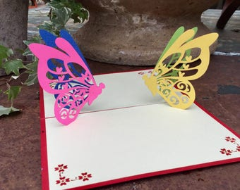 Butterflies Pop Up Card, Mother's Day Card,  mothers day, mother's day gift, mother's gift, gift for mom, Easter, Easter gift, Butterfly