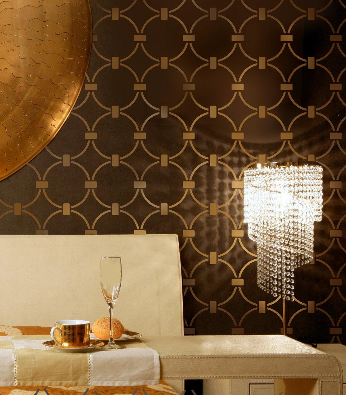 Wallpaper Stencil Chain Link Beautiful Stencils For DIY Home