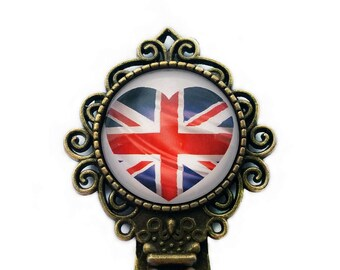 United Kingdom Flag Heart Bookmark