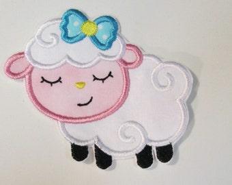 Iron On Applique - Sleepy Baby Lamb