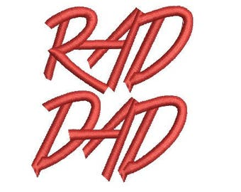 rad dad embroidery design