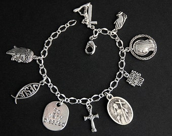 Saint Helen Bracelet. Catholic Bracelet. St Helen Charm Bracelet. Catholic Jewelry. Religious Jewelry. Handmade Jewelry.