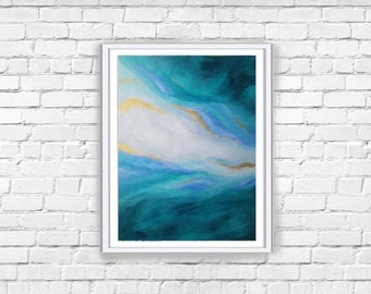 Original Abstract Art | Turquoise Wall Decor | Modern Home Decor | Living Room Decor | Bedroom Wall Art | Contemporary Art | Bathroom Decor