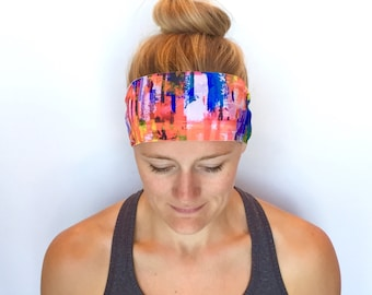 Running Headband - Workout Headband - Fitness Headband - Yoga Headband - Picasso