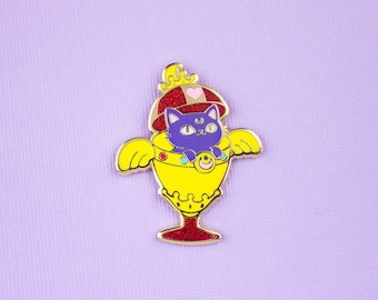 Luna Chalice // Hard Enamel Lapel Pin with Glitter Accents