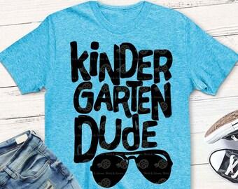 kindergarten svg, kindergarten shirt, boy, back to school svg, dude svg, iron on, printable, digital, transfer, DXF, EPS, svg, teacher svg,