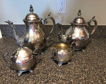 Vintage Silverplate Coffee, Tea Set
