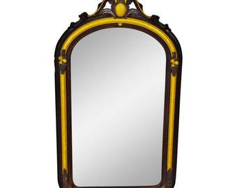 French Empire Style Painted Carved Wood Wall Mirror