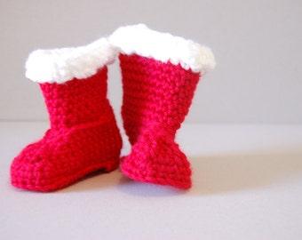 SANTA boots - Crochet