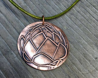 Even Artichokes Have Hearts Amelie Necklace Artisan Copper Introvert Jewelry