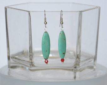 Turquoise Magnesite Earrings