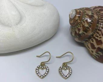 Blingy heart earrings