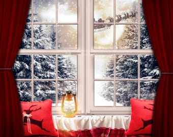 Christmas Digital Window view