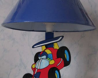 Child lamp with wood pattern formula 1