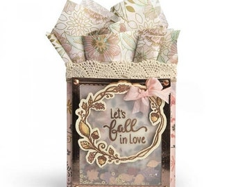 Mothers Day Special: Sizzix Framelits Die Set 7PK w/Stamps - Let's Fall in Love by Lindsey S 662273