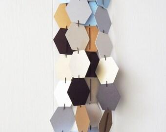 Hexagonal Honeycomb Garland Bunting / Geometric wall hanging