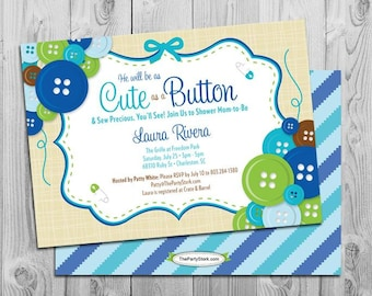 Navy and gray baby shower invitations boy baby shower cute as a button baby shower invitation boy baby shower printable invite cute as a button baby shower invitations filmwisefo
